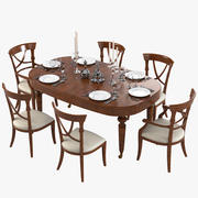 Galimberti Nino Dining Furniture Set 3d model