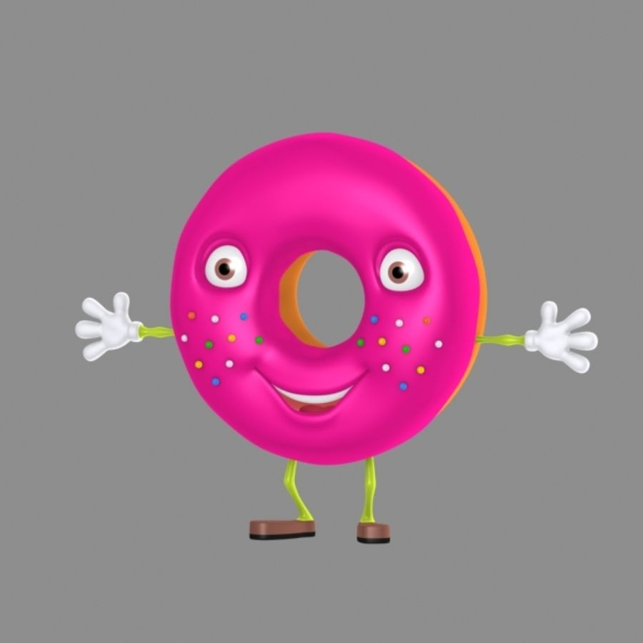 donut royalty-free 3d model - Preview no. 2