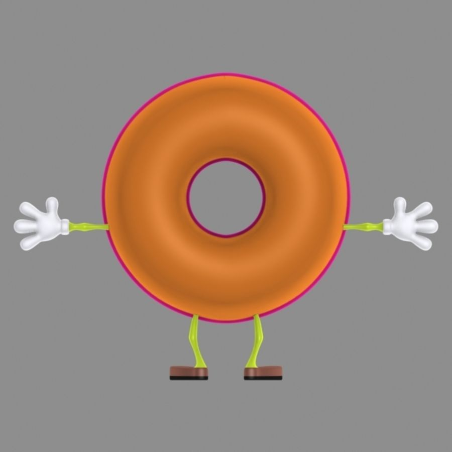 donut royalty-free 3d model - Preview no. 5
