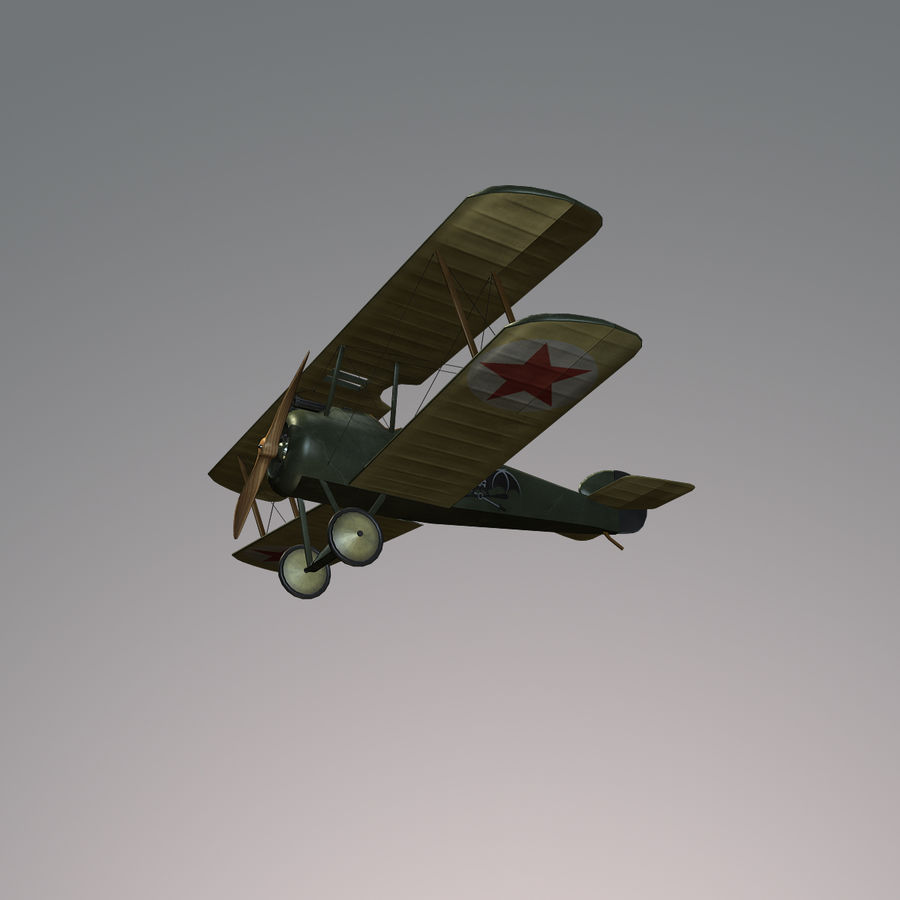 Sopwith F.1 Chameau royalty-free 3d model - Preview no. 6
