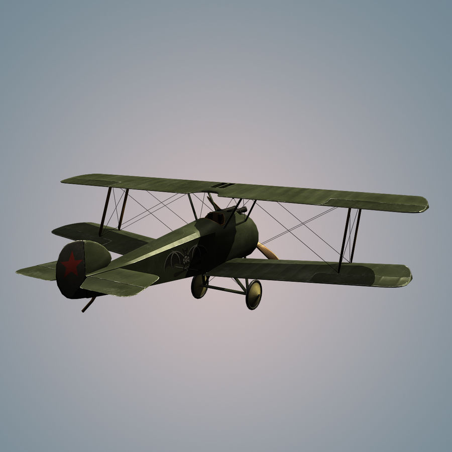 Sopwith F.1 Chameau royalty-free 3d model - Preview no. 4
