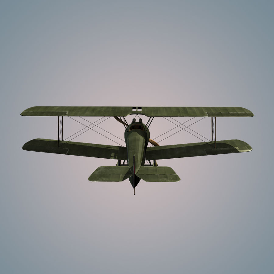 Sopwith F.1 Chameau royalty-free 3d model - Preview no. 5