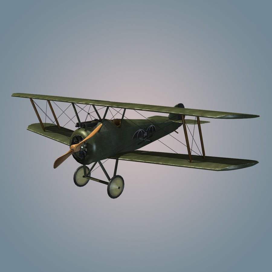 Sopwith F.1 Chameau royalty-free 3d model - Preview no. 3