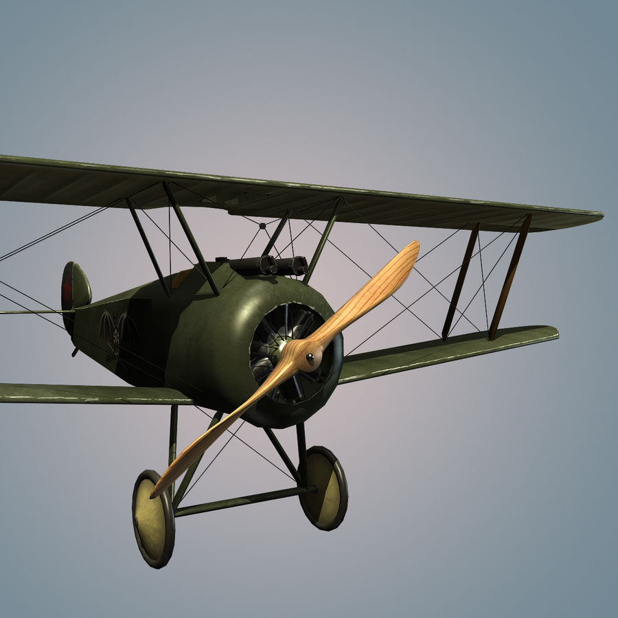 Sopwith F.1 Chameau royalty-free 3d model - Preview no. 1