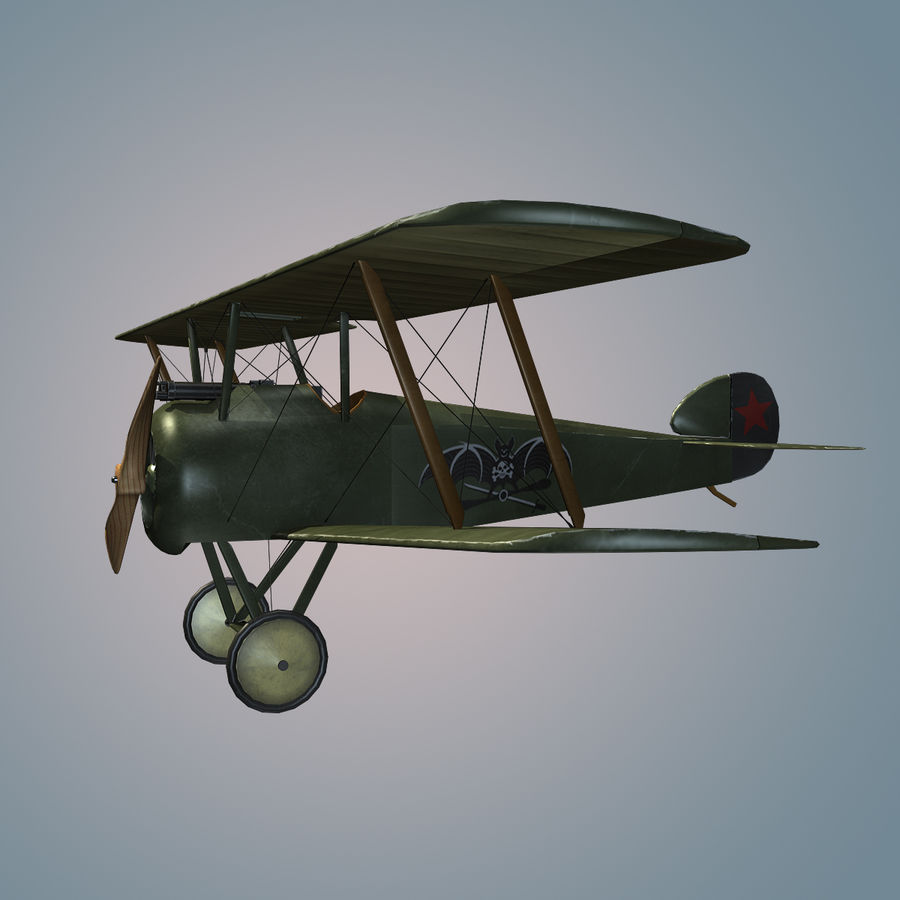 Sopwith F.1 Chameau royalty-free 3d model - Preview no. 2