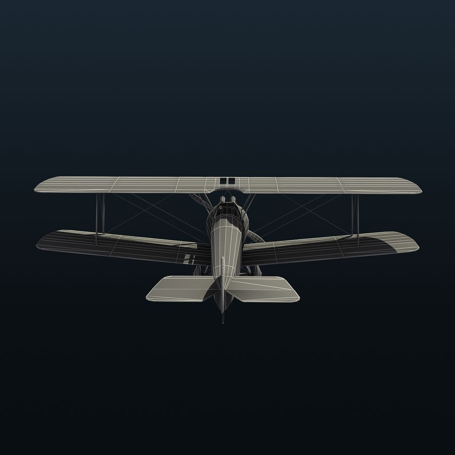 Sopwith F.1 Chameau royalty-free 3d model - Preview no. 11