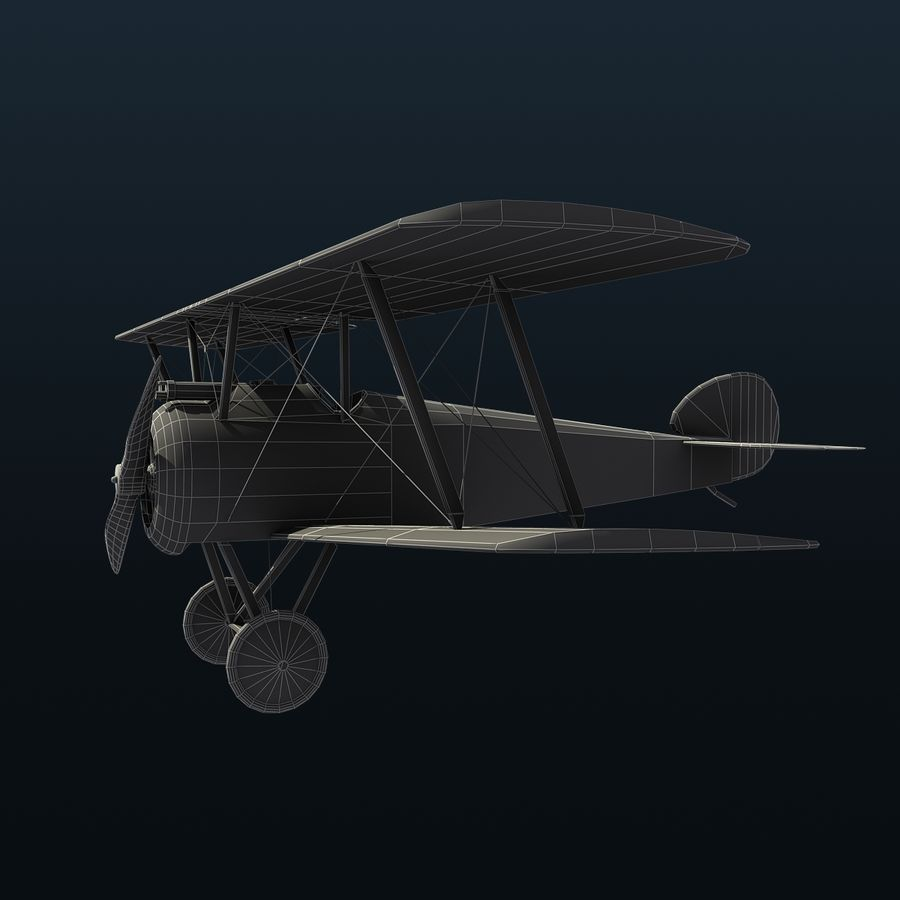 Sopwith F.1 Camel royalty-free 3d model - Preview no. 7