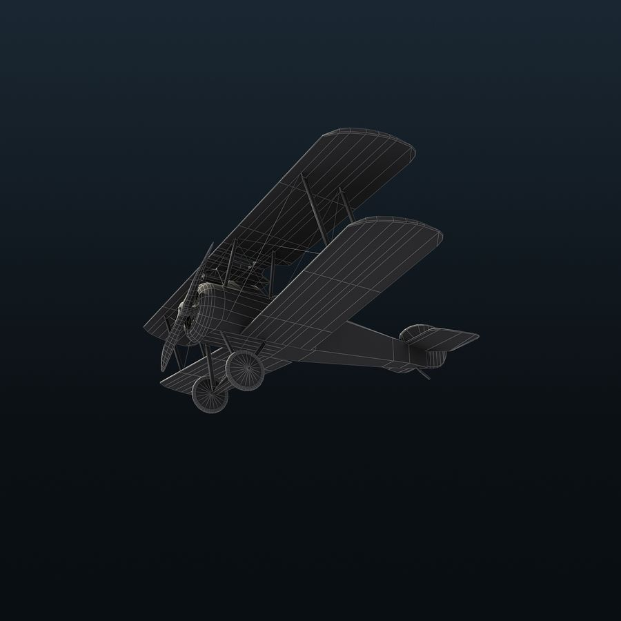 Sopwith F.1 Chameau royalty-free 3d model - Preview no. 12