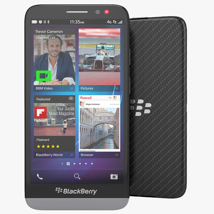 28c942bb510 Blackberry Z30 Smartphone 3D Model $30 - .max .obj .fbx .3ds - Free3D