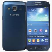 Samsung Galaxy Express 2 Blue 3d model