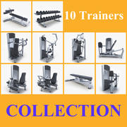 Collection fitness equipment 3d model