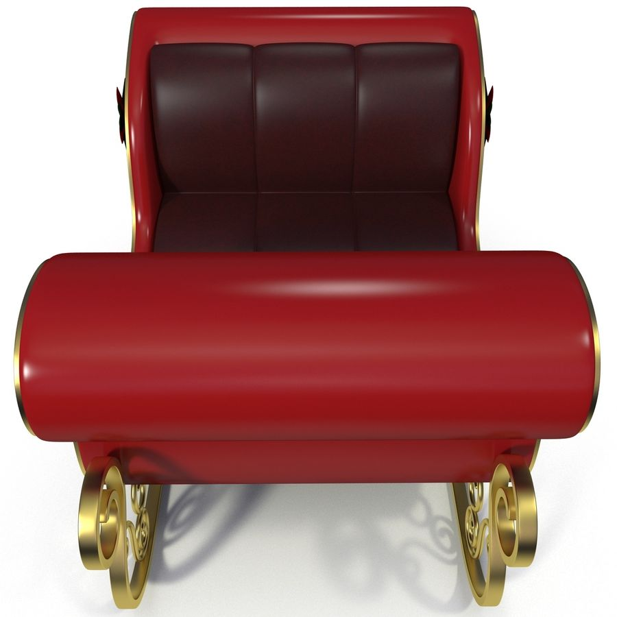 Christmas Sleigh royalty-free 3d model - Preview no. 9