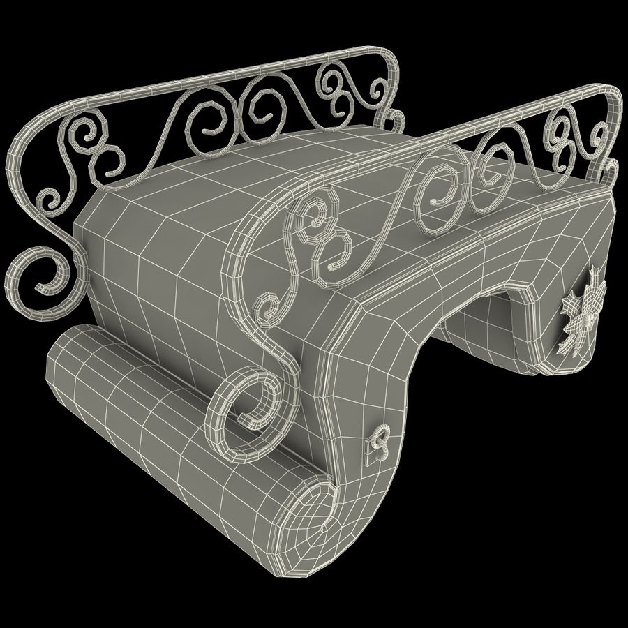 Christmas Sleigh royalty-free 3d model - Preview no. 24