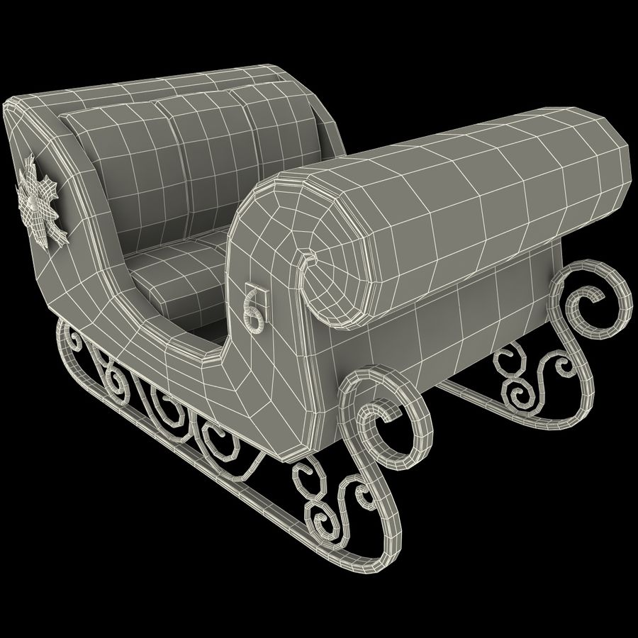 Christmas Sleigh royalty-free 3d model - Preview no. 19