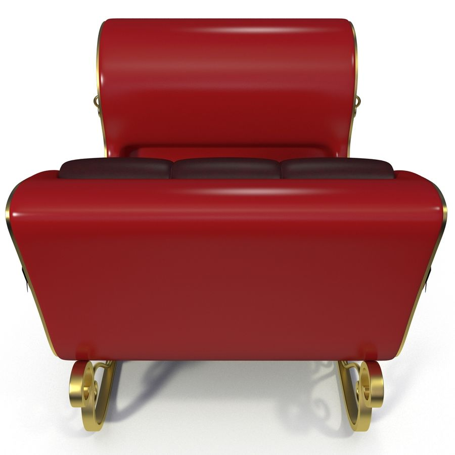Christmas Sleigh royalty-free 3d model - Preview no. 5