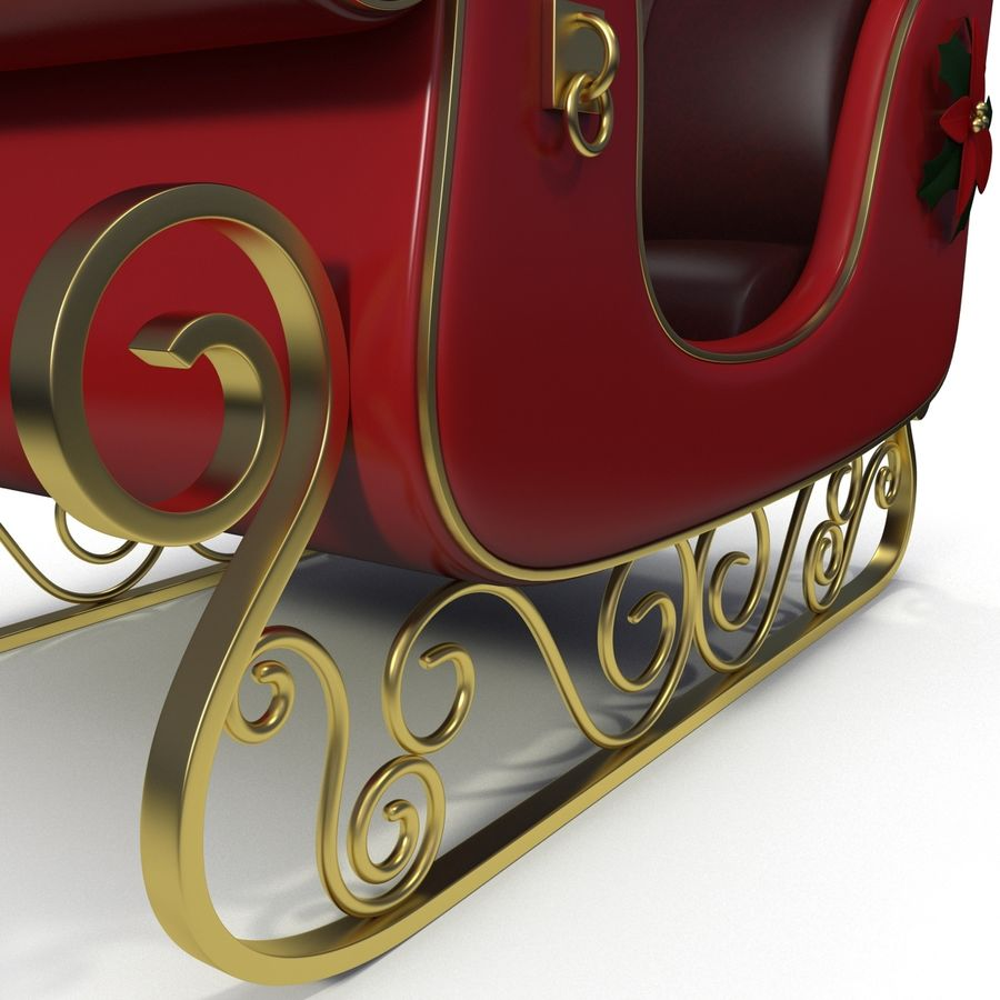 Christmas Sleigh royalty-free 3d model - Preview no. 10