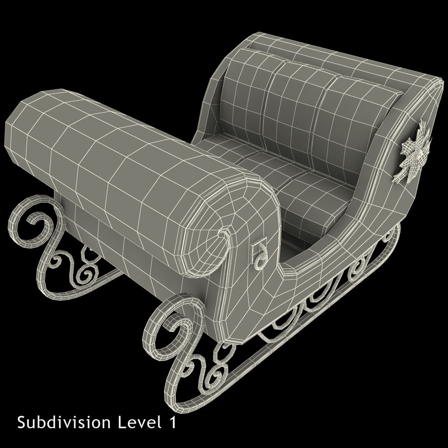 Christmas Sleigh royalty-free 3d model - Preview no. 25