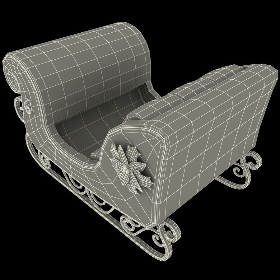 Christmas Sleigh royalty-free 3d model - Preview no. 16