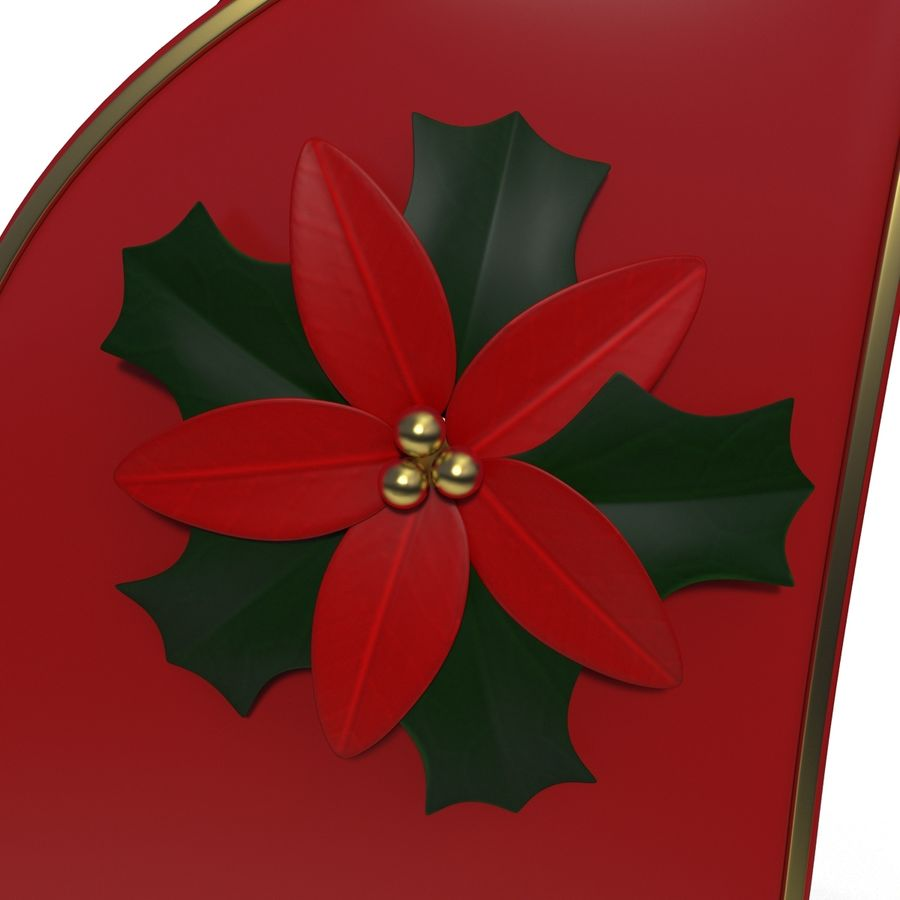 Christmas Sleigh royalty-free 3d model - Preview no. 11