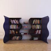 Bokhylla 8 med böcker 3d model