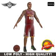 Баскетболист Low Poly 3d model