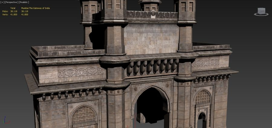 The Gateway of India 3D Model $40 -  obj  max  fbx - Free3D