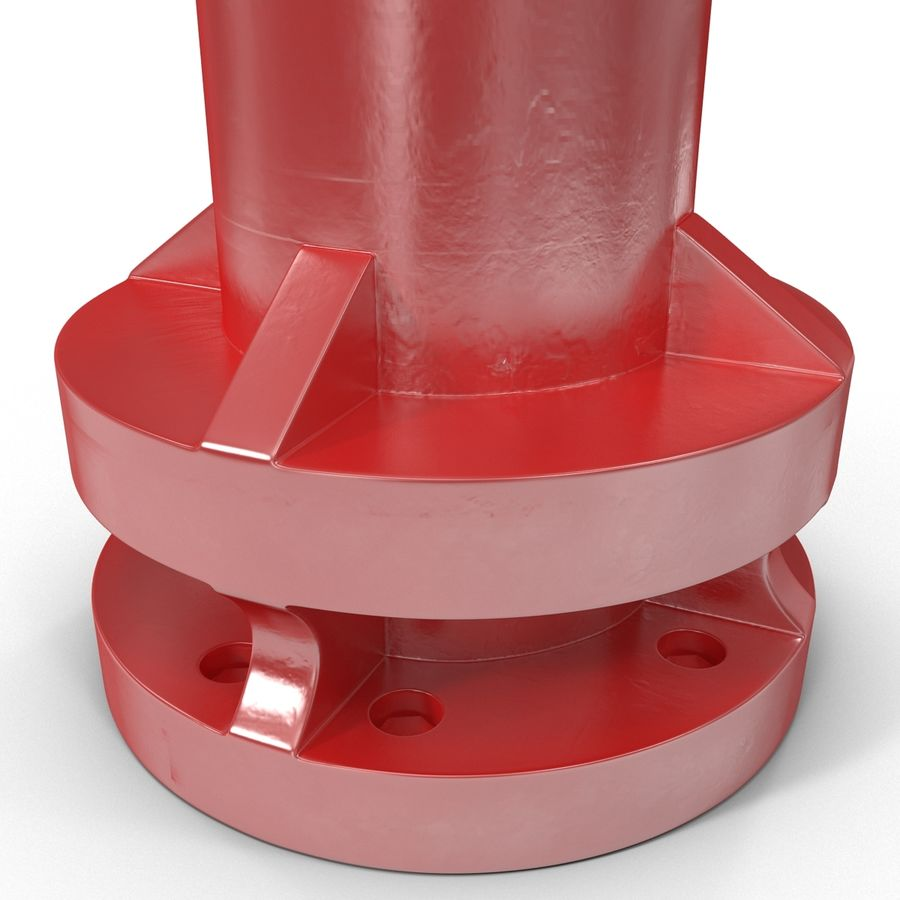 Fire Hydrant 2 Port royalty-free 3d model - Preview no. 13