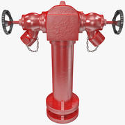 Fire Hydrant 2 Port 3d model