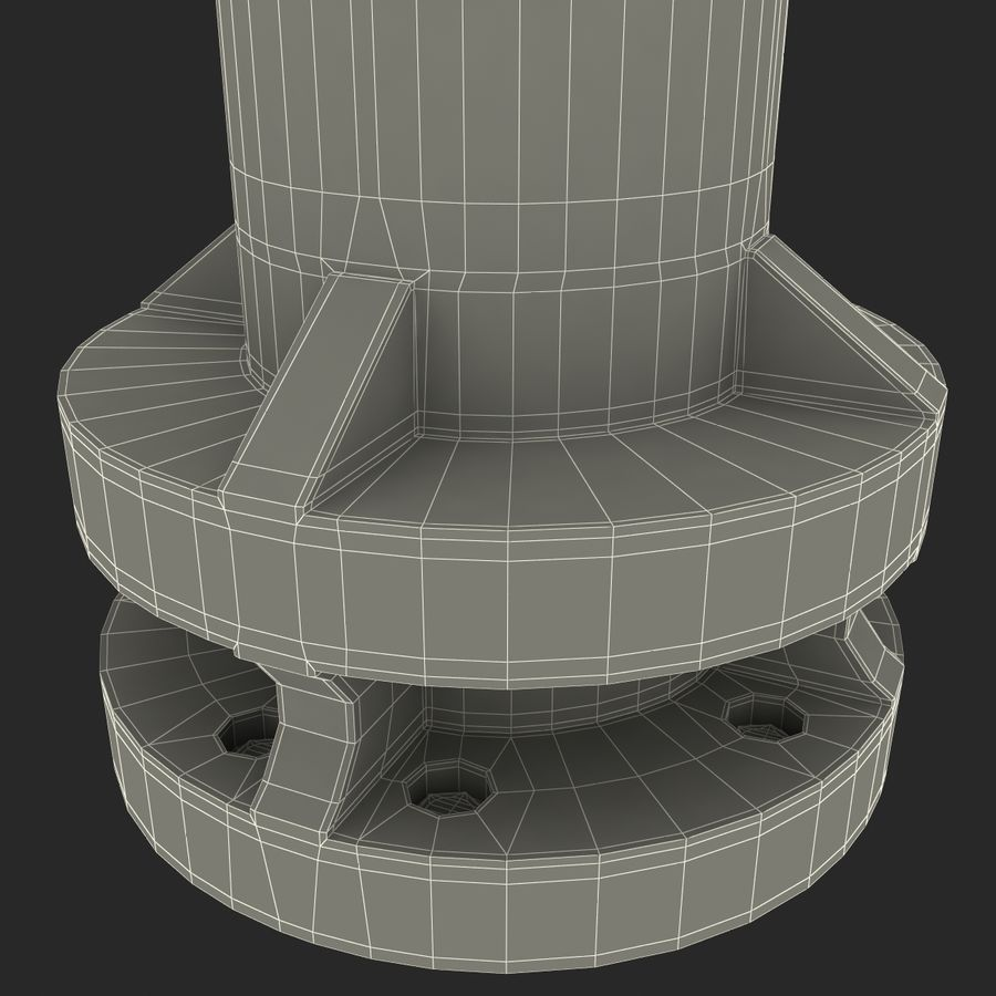 Fire Hydrant 2 Port royalty-free 3d model - Preview no. 22