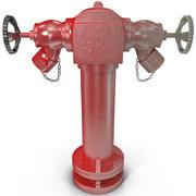 消防栓2口 3d model