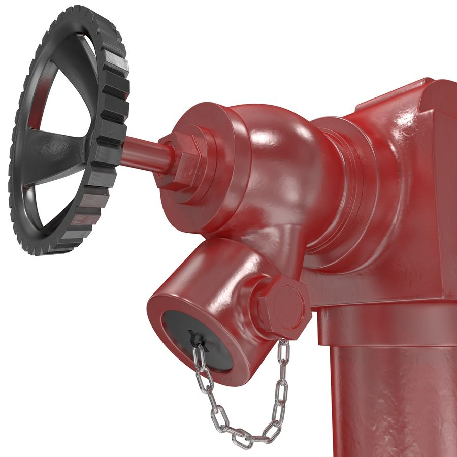 Fire Hydrant 2 Port royalty-free 3d model - Preview no. 11