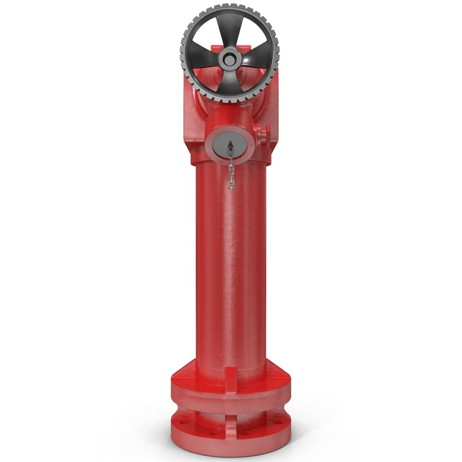 Fire Hydrant 2 Port royalty-free 3d model - Preview no. 5