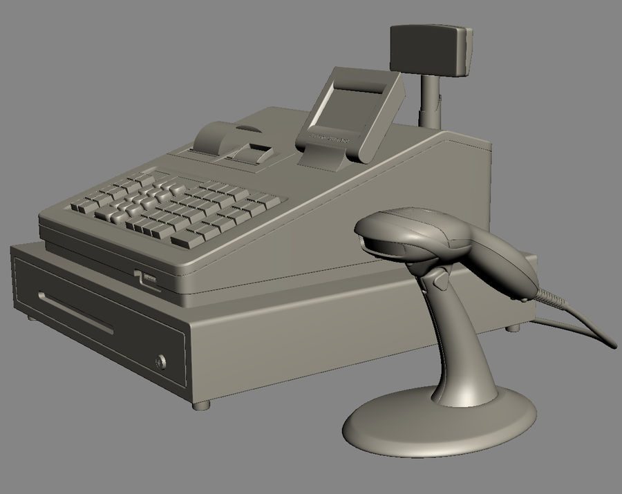 Xstg 10: Cash Register SHARP ER-A347 ER-A247 XE-A407 XE-A507 3D