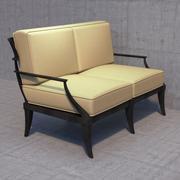 恢复硬件Klismos loveseat沙发 3d model