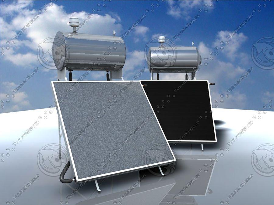 Chauffe-eau solaire royalty-free 3d model - Preview no. 6