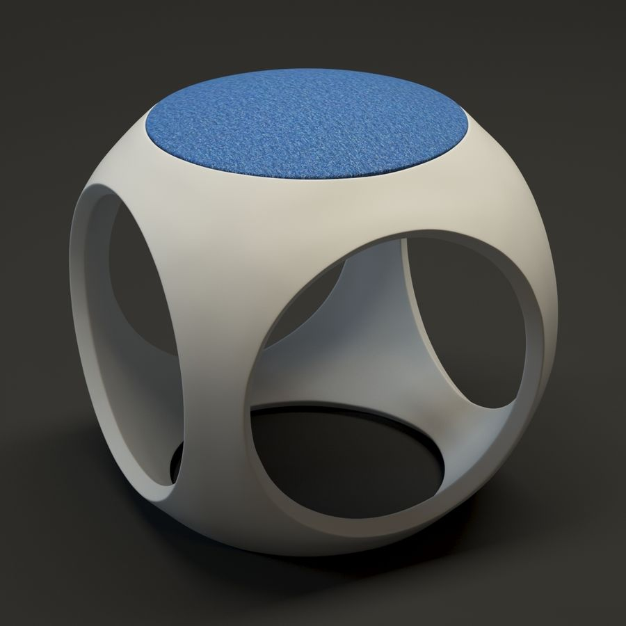 Oblio kruk royalty-free 3d model - Preview no. 1
