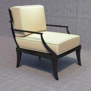 restoration hardware klismos lounge chair 3d model