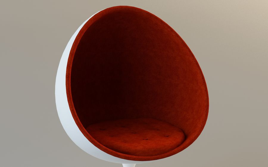 Round Egg Chair royalty-free 3d model - Preview no. 6