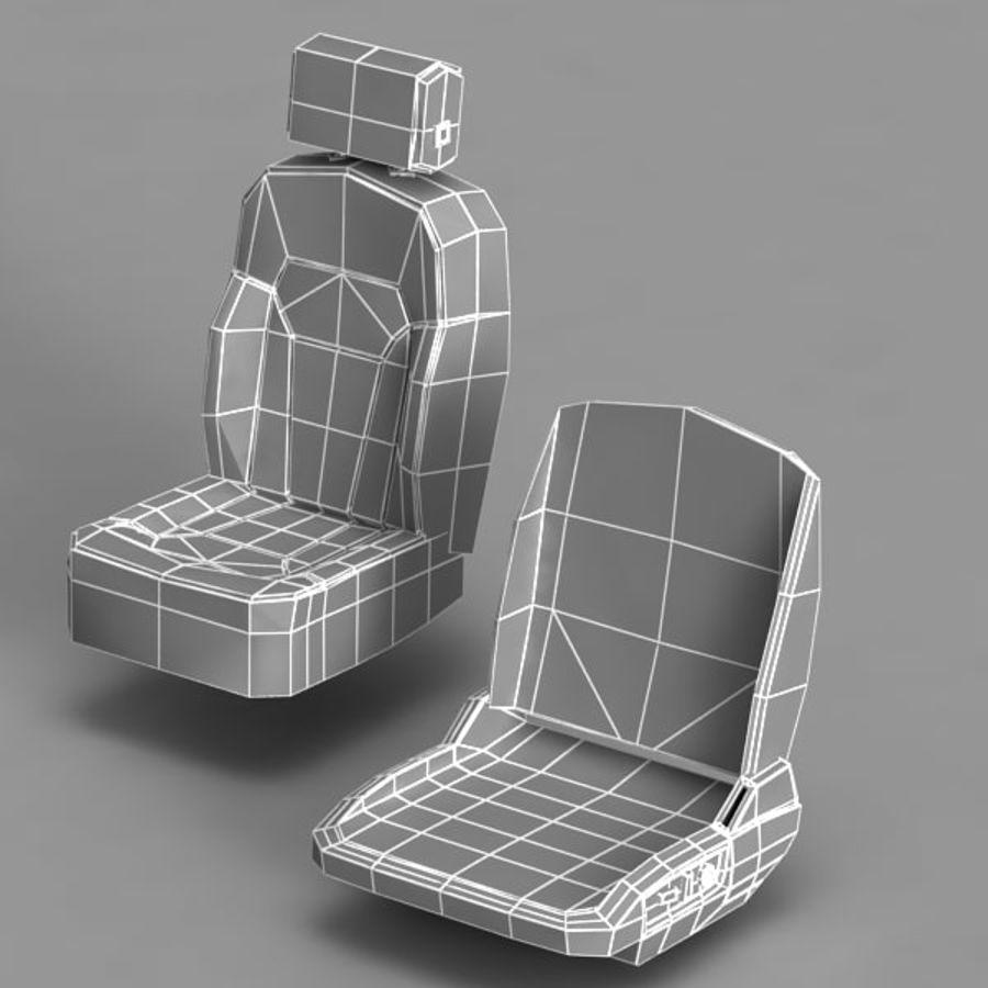 Car Seat royalty-free 3d model - Preview no. 14