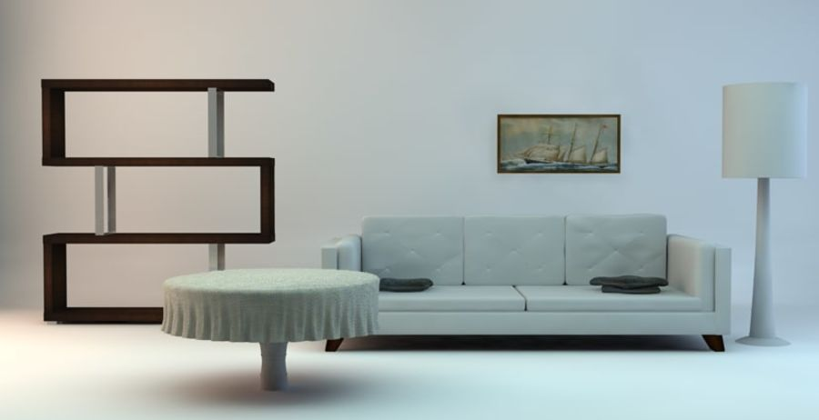 Simple Room royalty-free 3d model - Preview no. 1