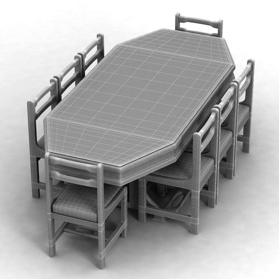 식사 테이블 royalty-free 3d model - Preview no. 6