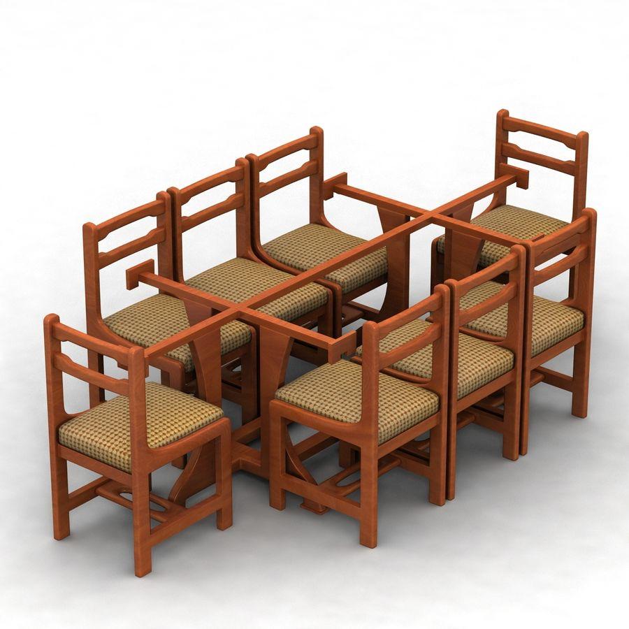 식사 테이블 royalty-free 3d model - Preview no. 3