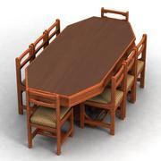 식사 테이블 3d model
