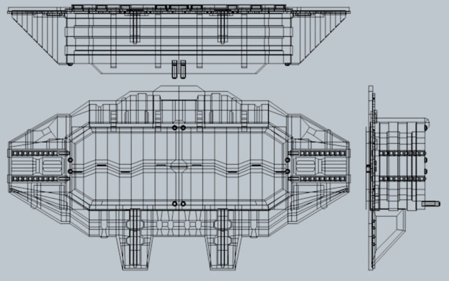 Starten Sie Bay And Doors royalty-free 3d model - Preview no. 5