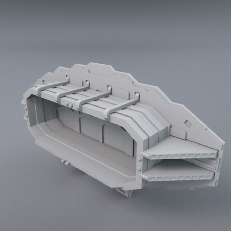 Starten Sie Bay And Doors royalty-free 3d model - Preview no. 2
