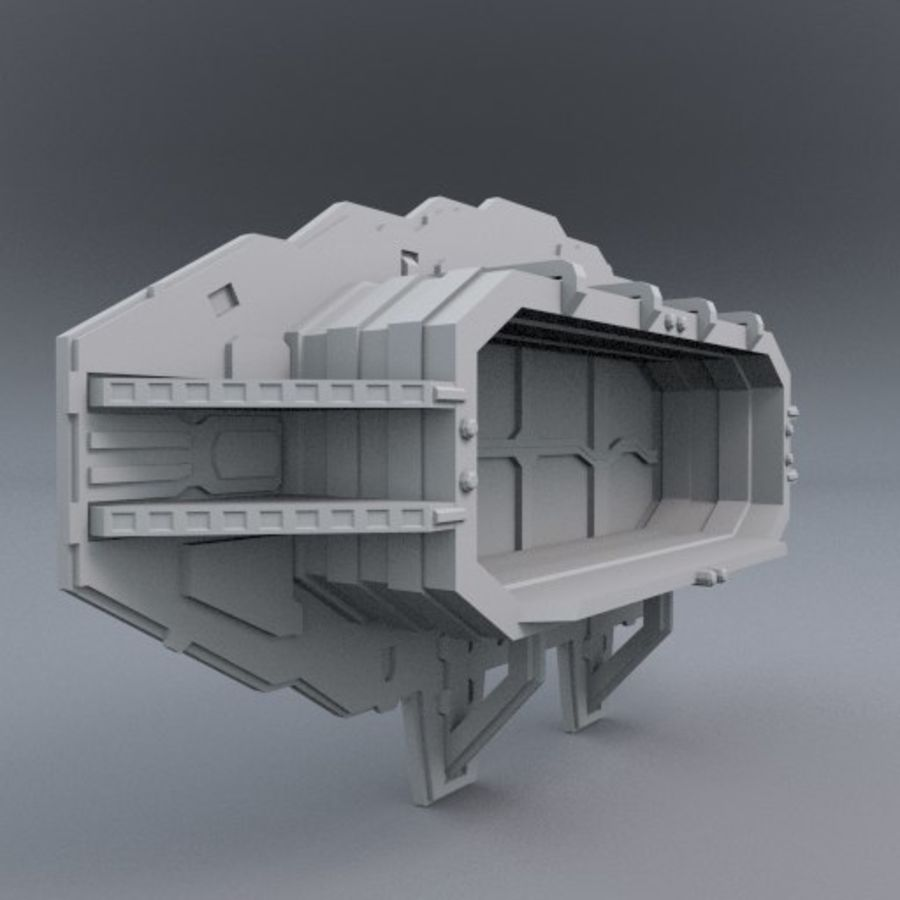 Starten Sie Bay And Doors royalty-free 3d model - Preview no. 1