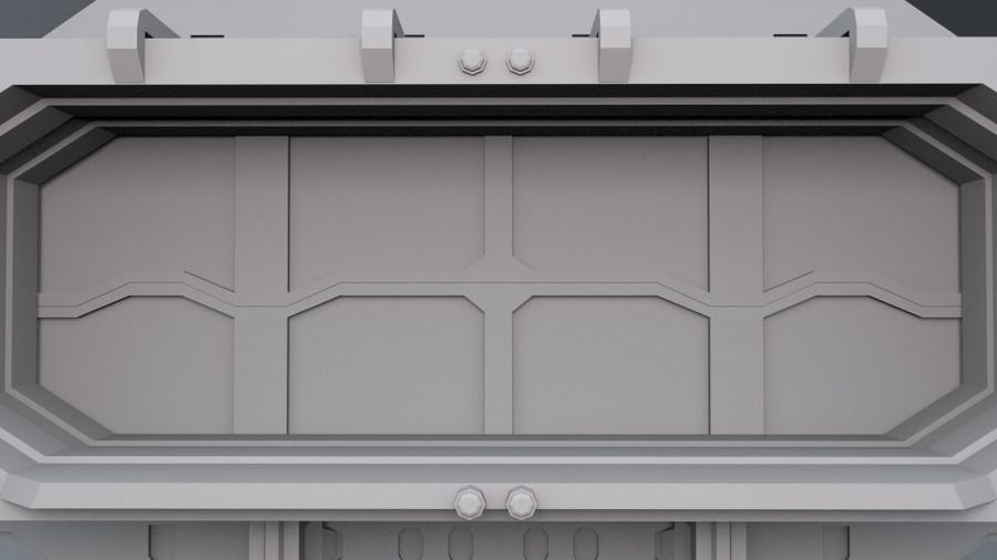 Starten Sie Bay And Doors royalty-free 3d model - Preview no. 3