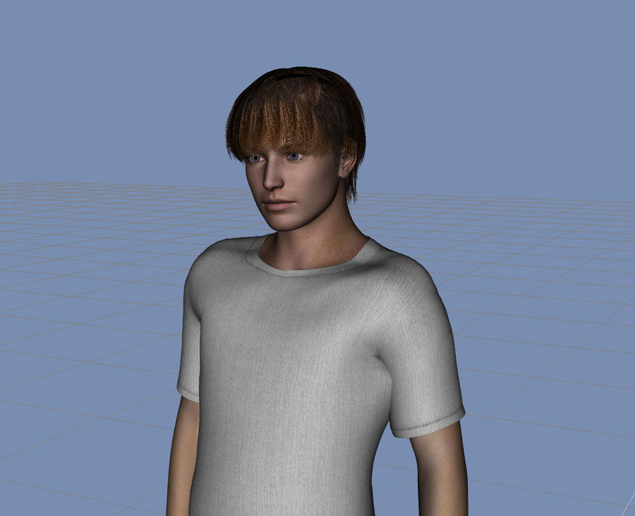 hombre adulto humano royalty-free modelo 3d - Preview no. 2