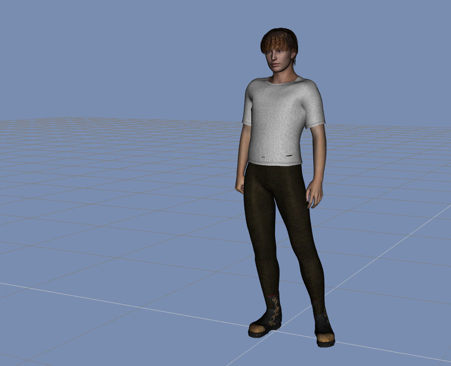 hombre adulto humano royalty-free modelo 3d - Preview no. 1