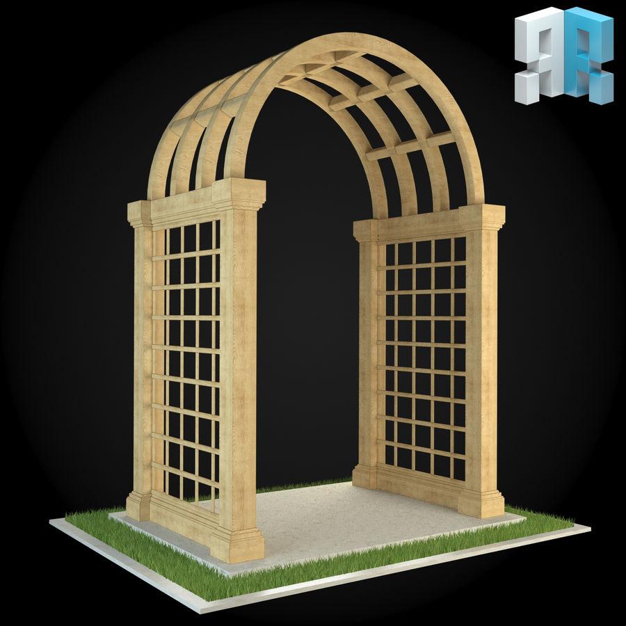 Pergola 001 royalty-free 3d model - Preview no. 3
